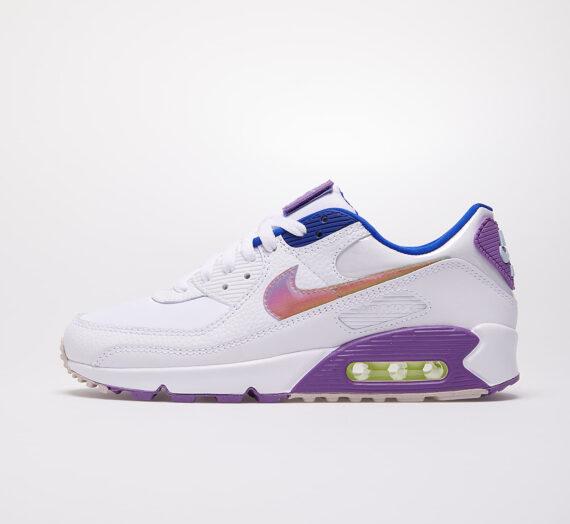 Nike W Air Max 90 SE White/ Multi-Color-Purple Nebula