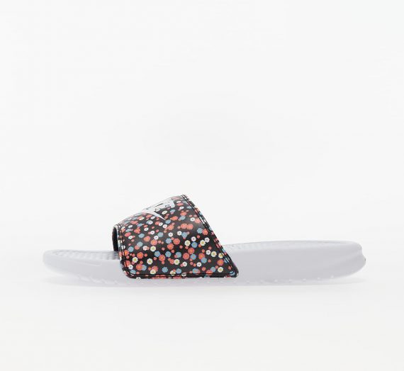 Nike Wmns Benassi JDI Print White/ White-Black-Magic Ember 53199
