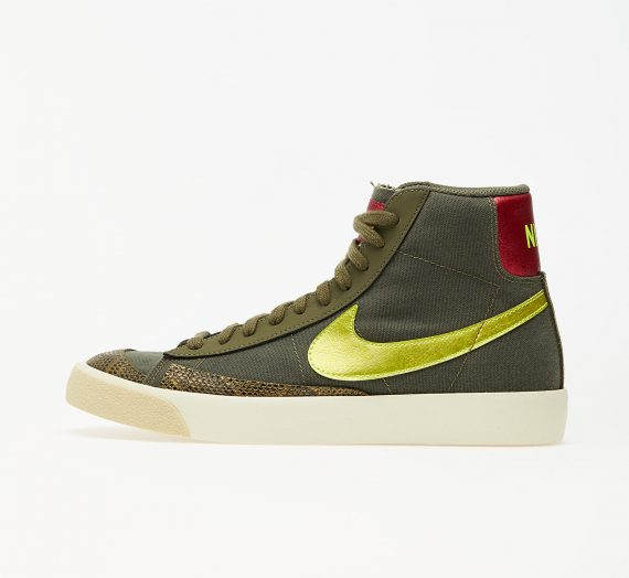 Nike Wmns Blazer Mid '77 Medium Olive/ Lemon Venom-Fossil 53280