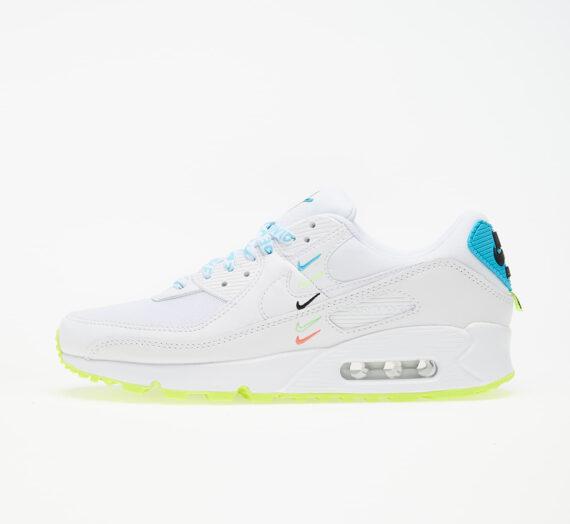 Nike W Air Max 90 Ww White/ White-Blue Fury-Volt 59830