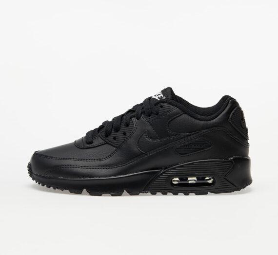 Nike Air Max 90 Leather (GS) Black/ Black-Black-White 60463