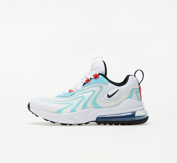 Nike Air Max 270 React Eng (GS) White/ Black-Bleached Aqua-Chile Red