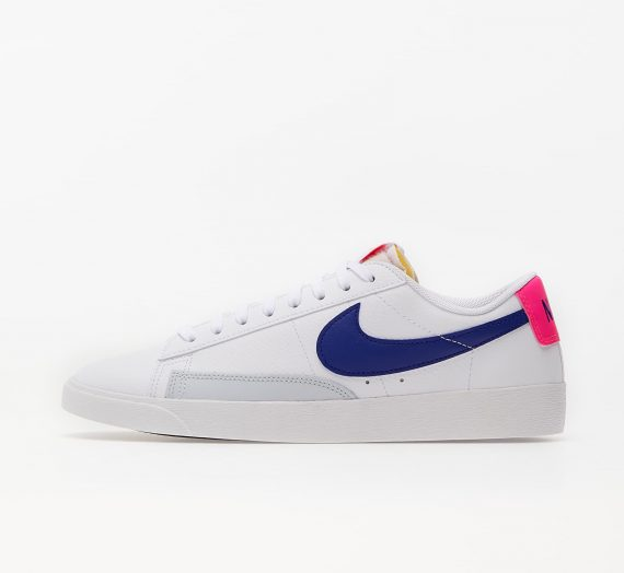 Nike Wmns Blazer Low White/ Concord-Hyper Pink-Pure Platinum 86350