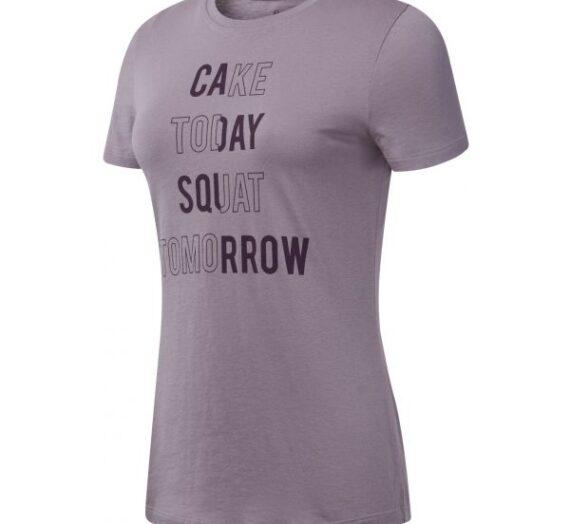 Reebok GS CAKE TODAY TEE розово M – Дамска тениска 1488992