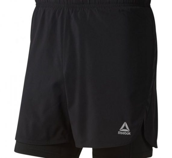 Reebok 2-1 SHORT черен L – Мъжки къси  панталони 1489082