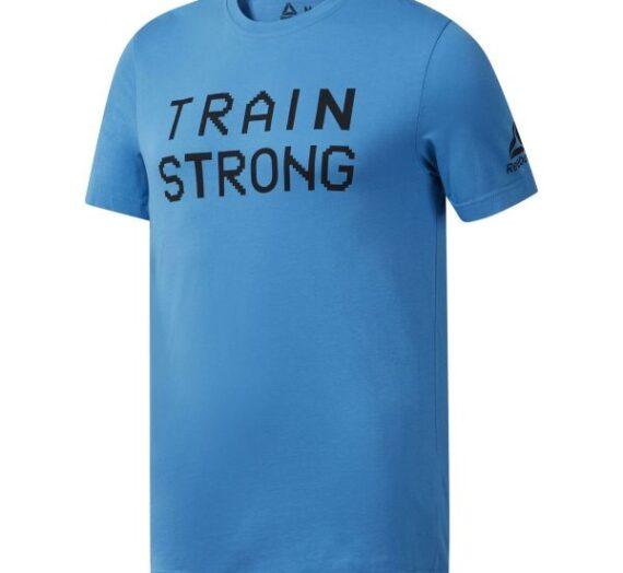 Reebok GS TRAIN STRONG TEE син XL – Мъжка тениска 1579822