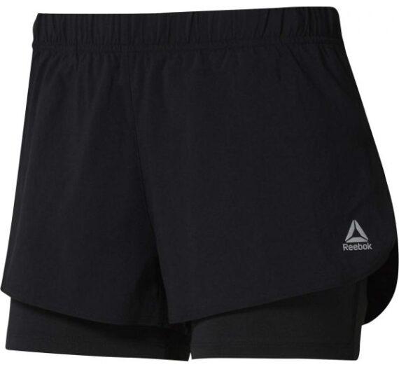 Reebok 2-IN-1 SHORT черен L – Дамски спортни къси панталони 1596684