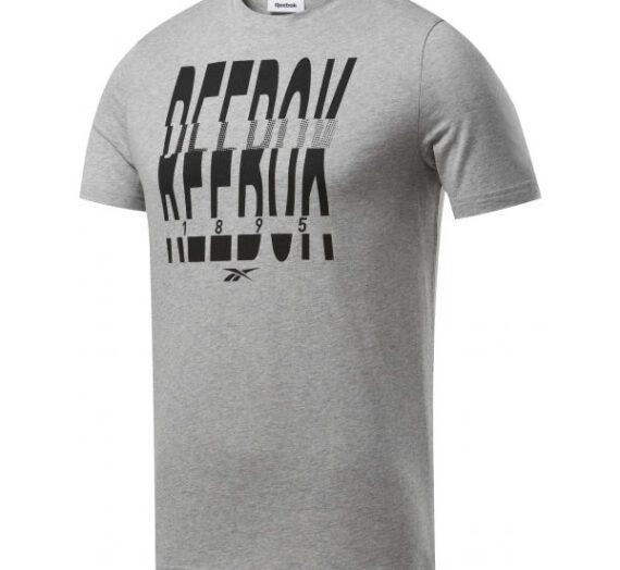 Reebok GS REEBOK 1895 CREW TEE сиво L – Мъжка тениска 1704849