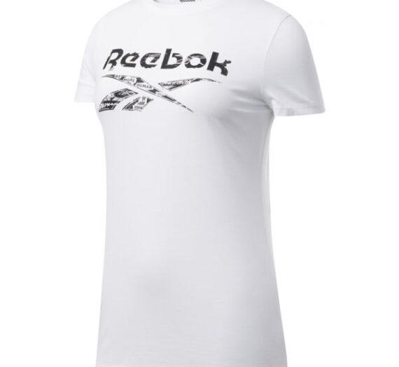 Reebok TE GRAPHIC TEE DELTA бяло L – Дамска тениска 1704871