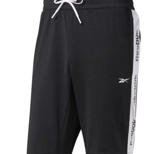 Reebok TE LINEAR LOGO SHORT черен S – Мъжки къси панталони 1704967