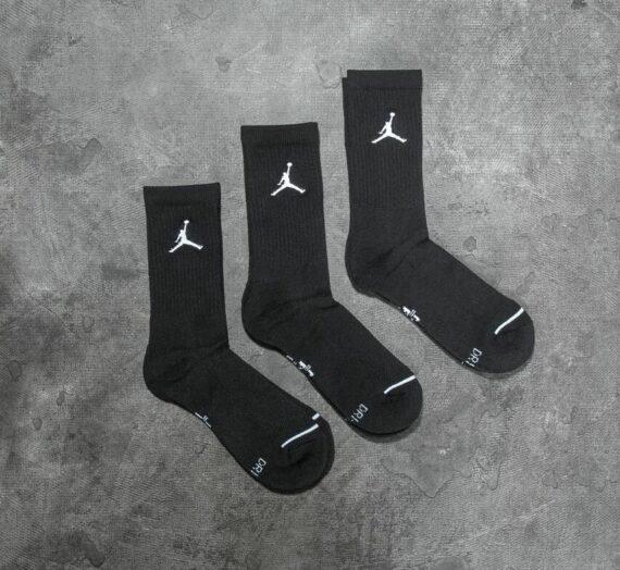 Чорапи Jordan Everyday Max 3PR Crew Socks Black/ Black/ Black 19446_8-11