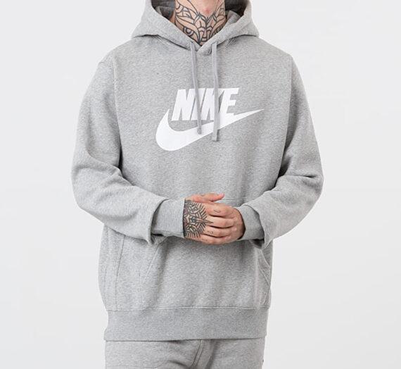 Суичъри и пуловери Nike Sportswear Baseball GX Club Hoodie Dk Grey Heather/ Matte Silver/ White 44219_XL