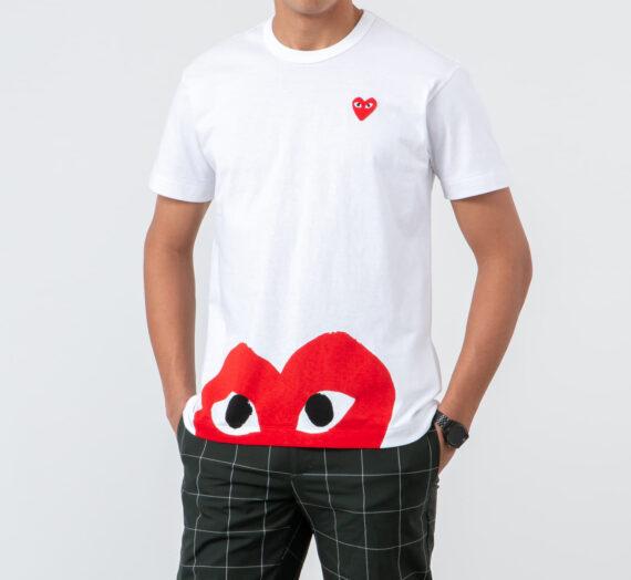 Тениски Comme des Garçons PLAY Tee White 47450_S