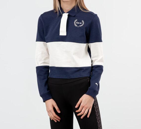 Тениски Puma x Selena Gomez Rugby Polo Tee Peacoat/ Whisper White 49534_L