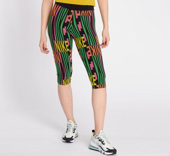 Дънки и панталони Nike Sportswear Leggings Peace Pack Capri Black/ Green Spark 50632_S