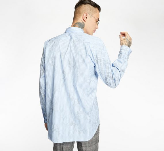 Ризи Comme des Garçons SHIRT Striped Long Sleeve Shirt Blue 51624_S