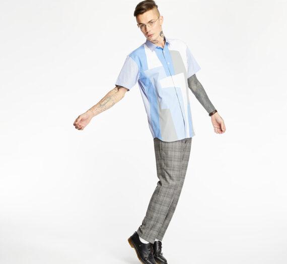 Ризи Comme Des Garçons SHIRT Colour Block Shirt Multicolor 51648_M