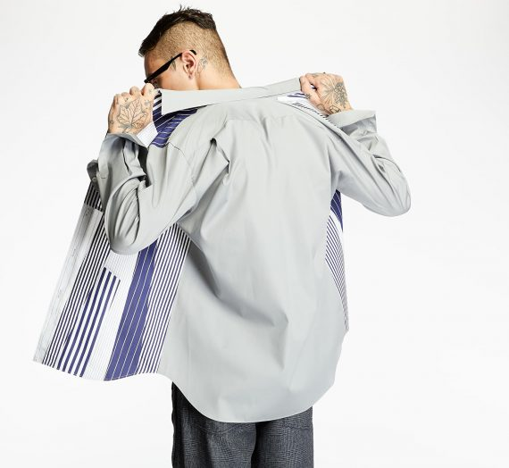 Ризи Comme Des Garçons SHIRT Colour Block Shirt Multicolor 51652_M