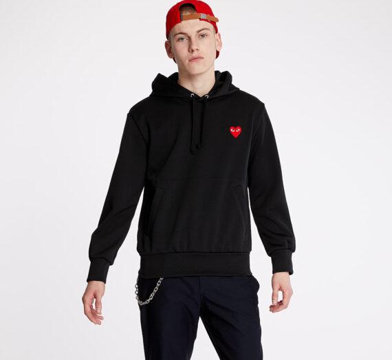 Суичъри и пуловери Comme des Garçons PLAY Hoodie Black 53372_L