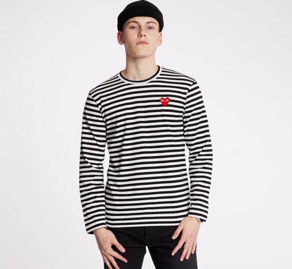 Тениски Comme des Garçons PLAY Long Sleeve Tee Black/ White 53375_S