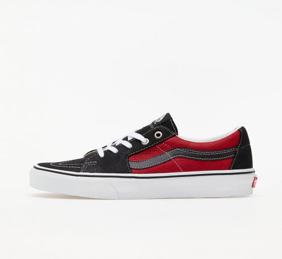 Мъжки кецове и обувки Vans Sk8-Low (Leather) Black/ Chilli Pepper 56935_9_5
