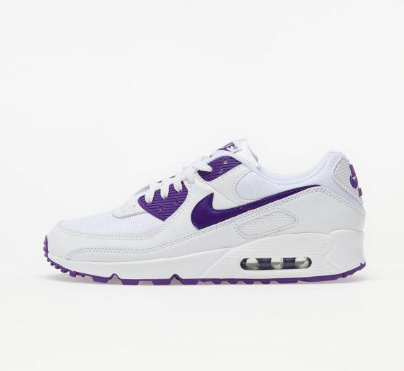 Мъжки кецове и обувки Nike Air Max 90 White/ Voltage Purple-Black 60841_7_5