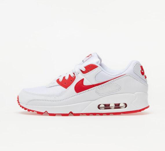 Мъжки кецове и обувки Nike Air Max 90 White/ Hyper Red-Black 60844_7_5
