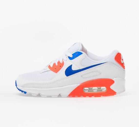 Дамски кецове и обувки Nike W Air Max 90 White/ Racer Blue-Flash Crimson 72577_8