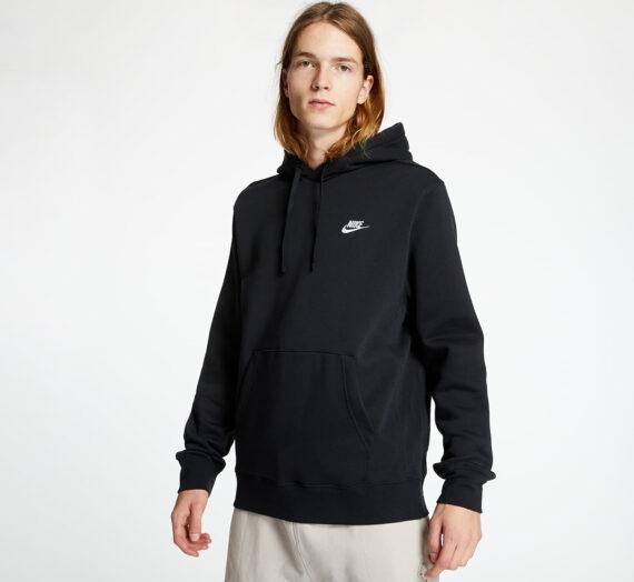 Суичъри и пуловери Nike Sportswear Club Fleece Pullover Hoodie Black/ Black/ White 85273_M