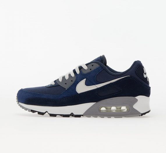 Мъжки кецове и обувки Nike Air Max 90 Premium Obsidian/ Summit White-Midnight Navy 86254_11_5