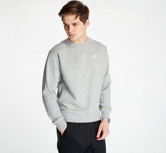 Суичъри и пуловери Nike Sportswear Club Crewneck Dark Grey Heather/ White 97897_S