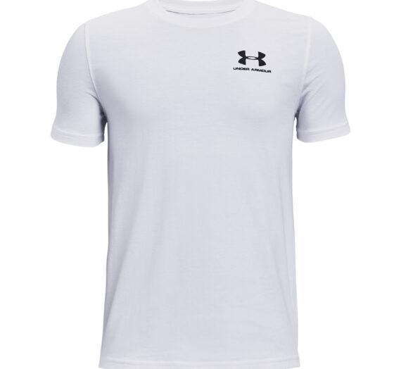 Тениски Under Armour Y Cotton Short Sleeve Tee White/ Black 114292_M