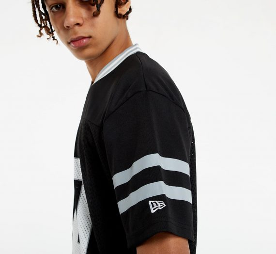 Тениски New Era NFL Logo Oversized Tee Las Vegas Raiders Black 116899_L