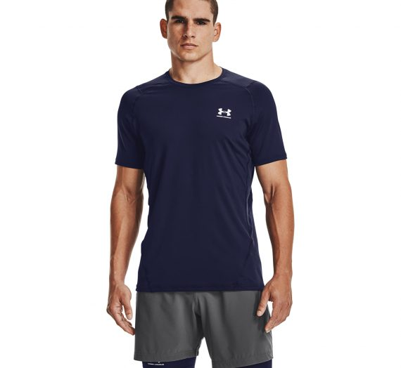 Тениски Under Armour Hg Fitted SS Tee Navy 121912_S