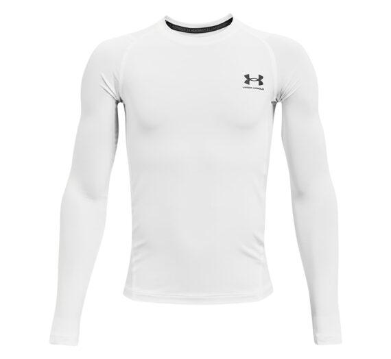 Тениски Under Armour Y Hg LS White 121966_S