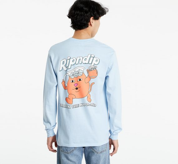 Тениски RIPNDIP Drink Me Long Sleeve Light Blue 124762_S
