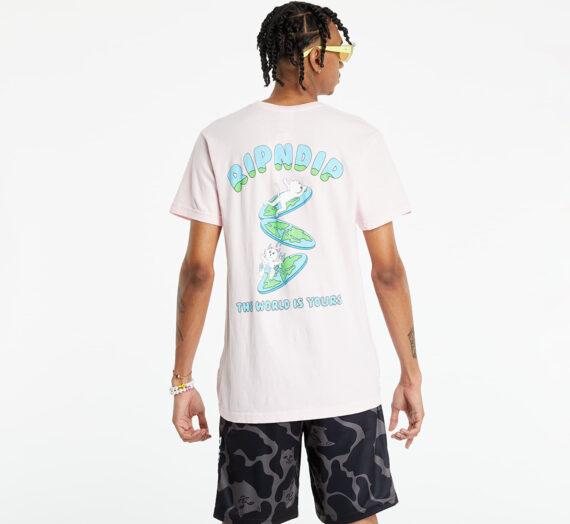 Тениски RIPNDIP The World Is Yours Tee Light Pink 124801_S