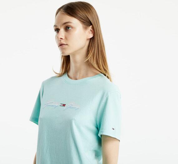 Тениски Tommy Jeans Linear Logo Tee Aqua Coast 125584_XS