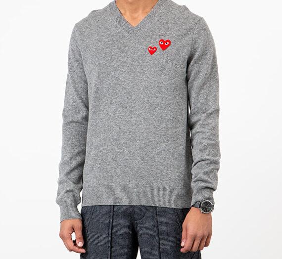 Суичъри и пуловери Comme des Garçons PLAY Crewneck Sweatshirt Grey 47395_XL