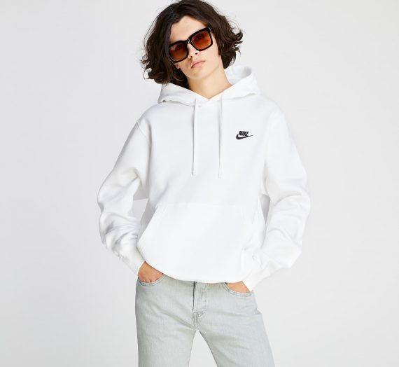 Суичъри и пуловери Nike Sportswear Club BB Hoodie White/ White/ Black 85291_L