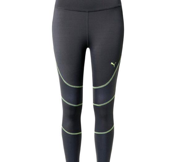 PUMA Спортен панталон 'Winter Pearl'  антрацитно черно / неоново зелено 41910518