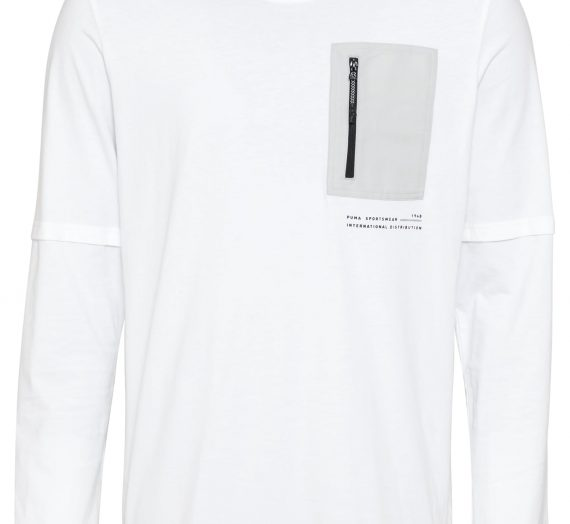 PUMA Тениска 'INTERSTELLAR'  мръсно бяло / сиво / черно 42064003