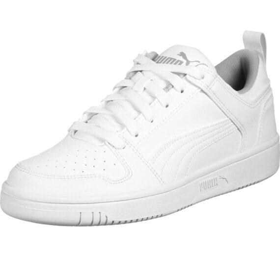 PUMA Спортни обувки 'Rebound Layup'  бяло / сиво 42324103