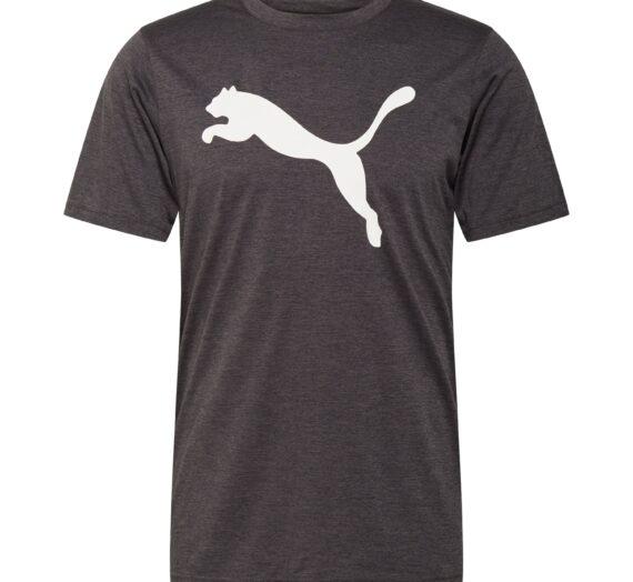 PUMA Функционална тениска 'Heather Cat'  антрацитно черно / бяло 43104753