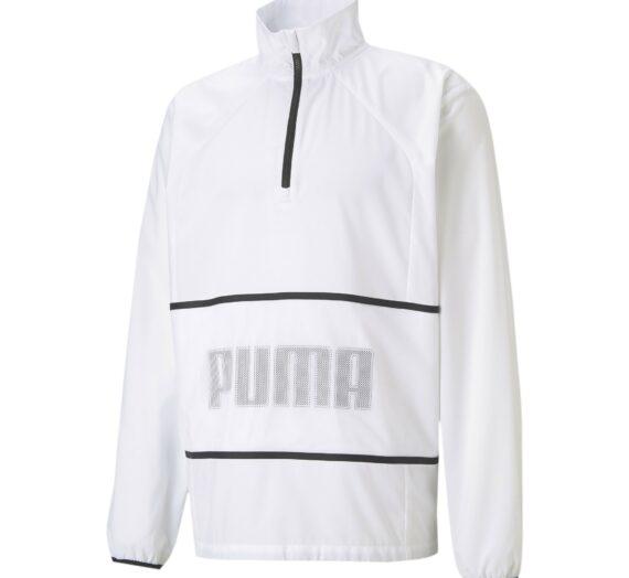 PUMA Яке за трениране  бяло / черно / таупе сиво 43119435