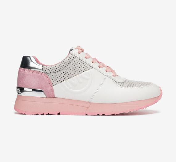 Обувки > Спортни обувки Michael Kors Allie Trainer Спортни обувки Rozov Byal Srebaren 715198