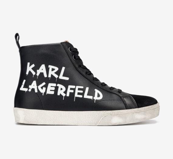 Обувки > Спортни обувки Karl Lagerfeld Skool Brush Logo Спортни обувки Cheren 765927