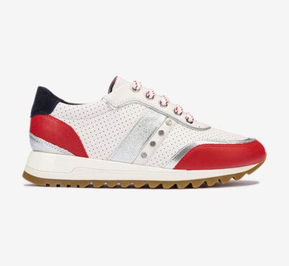 Обувки > Спортни обувки Geox D Tabelya Спортни обувки Cherven Byal 829889