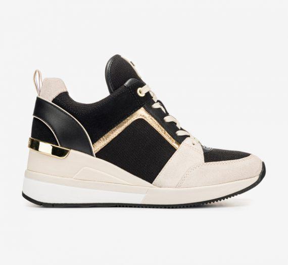 Обувки > Спортни обувки Michael Kors Georgie Trainer Спортни обувки Cheren Bezhov 948508