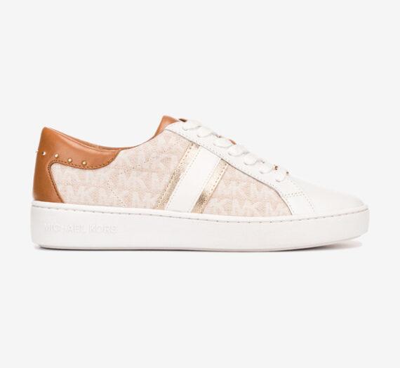 Обувки > Спортни обувки Michael Kors Keaton Stripe Спортни обувки Byal Bezhov 964362